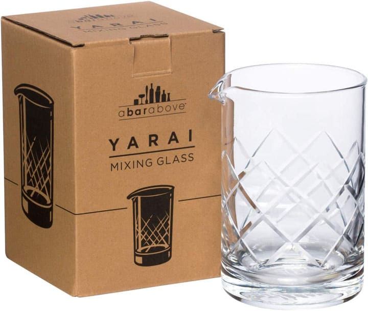 A Bar Above Mixing Glass for Stirred Cocktails Yarai Style Seamless Thick Durable mixing glass for Craft Bars Professional Bartenders