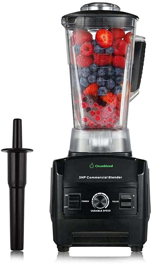 Cleanblend Commercial Blender 64 Oz Countertop Blender 1800 Watt Base