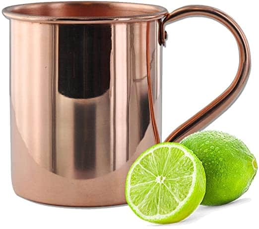 Moscow Mule Copper Mug by Solid Copper Authentic Moscow Mule Mugs Unlined