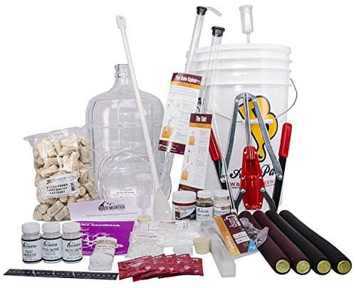 North Mountain Supply 3 Gallon Wine from Fruit Complete 32pc Kit with Glass Carboy Only Fruit Bottles Required min