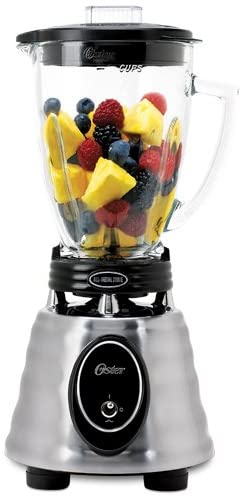 Oster BPCT02 BA0 000 6 Cup Glass Jar 2 Speed Toggle Beehive Blender Brushed Stainless