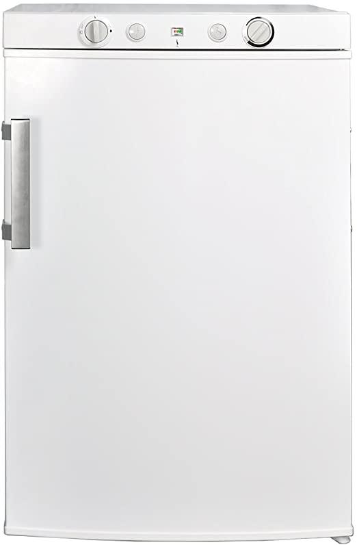 SMETA Propane Refrigerator with Freezer 12V110VGas LPG 3.5 Cu Ft White