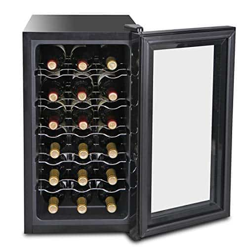 SUPER DEAL 18 Bottle Touchscreen Wine Cooler Thermoelectric