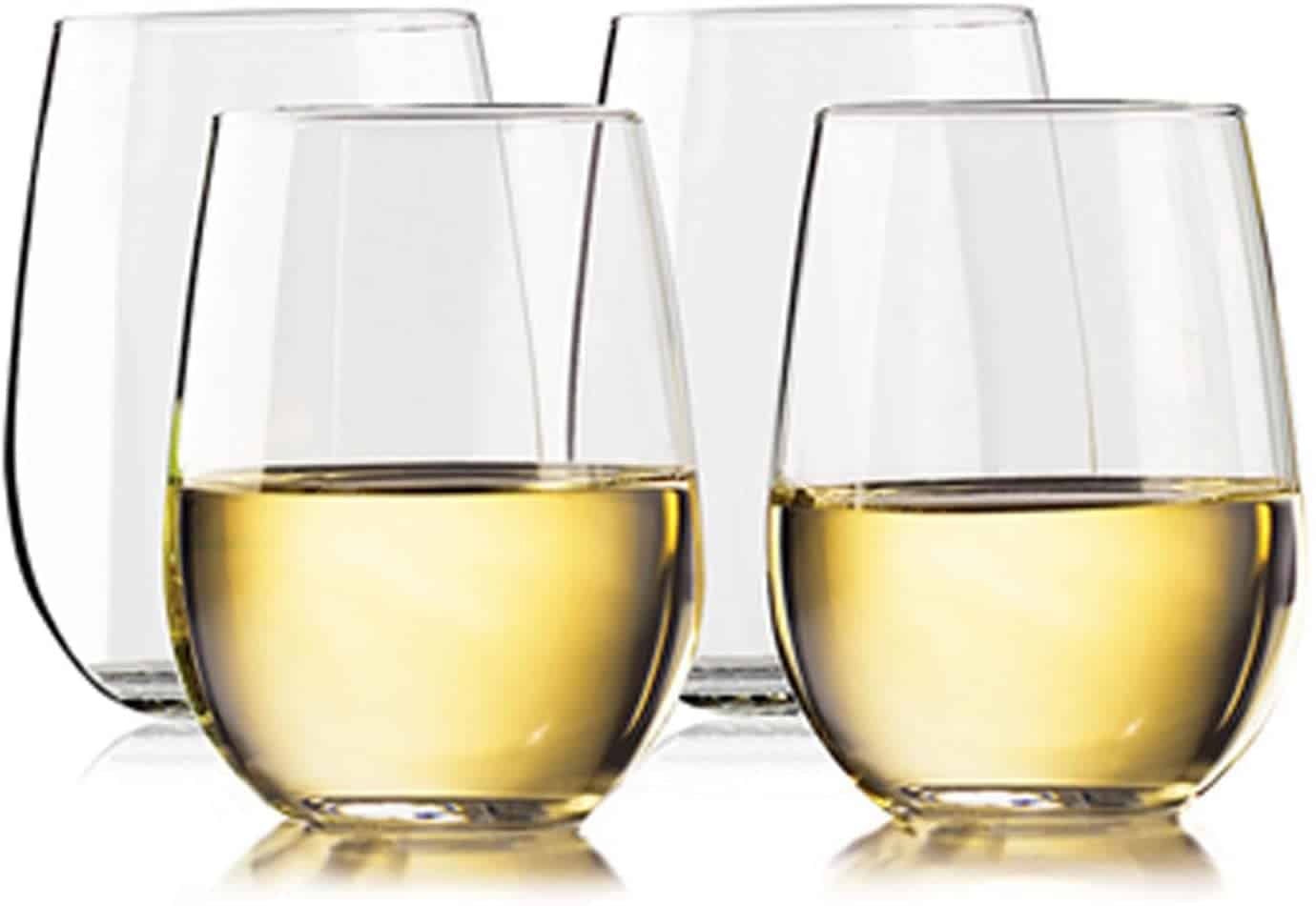 TaZa Unbreakable Stemless Wine Glasses