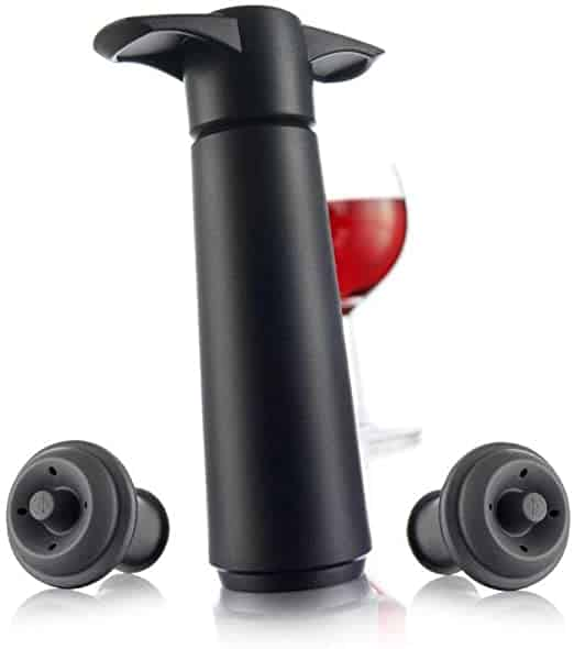 Vacu Vin Wine Saver Pump with 2 x Vacuum Bottle Stoppers