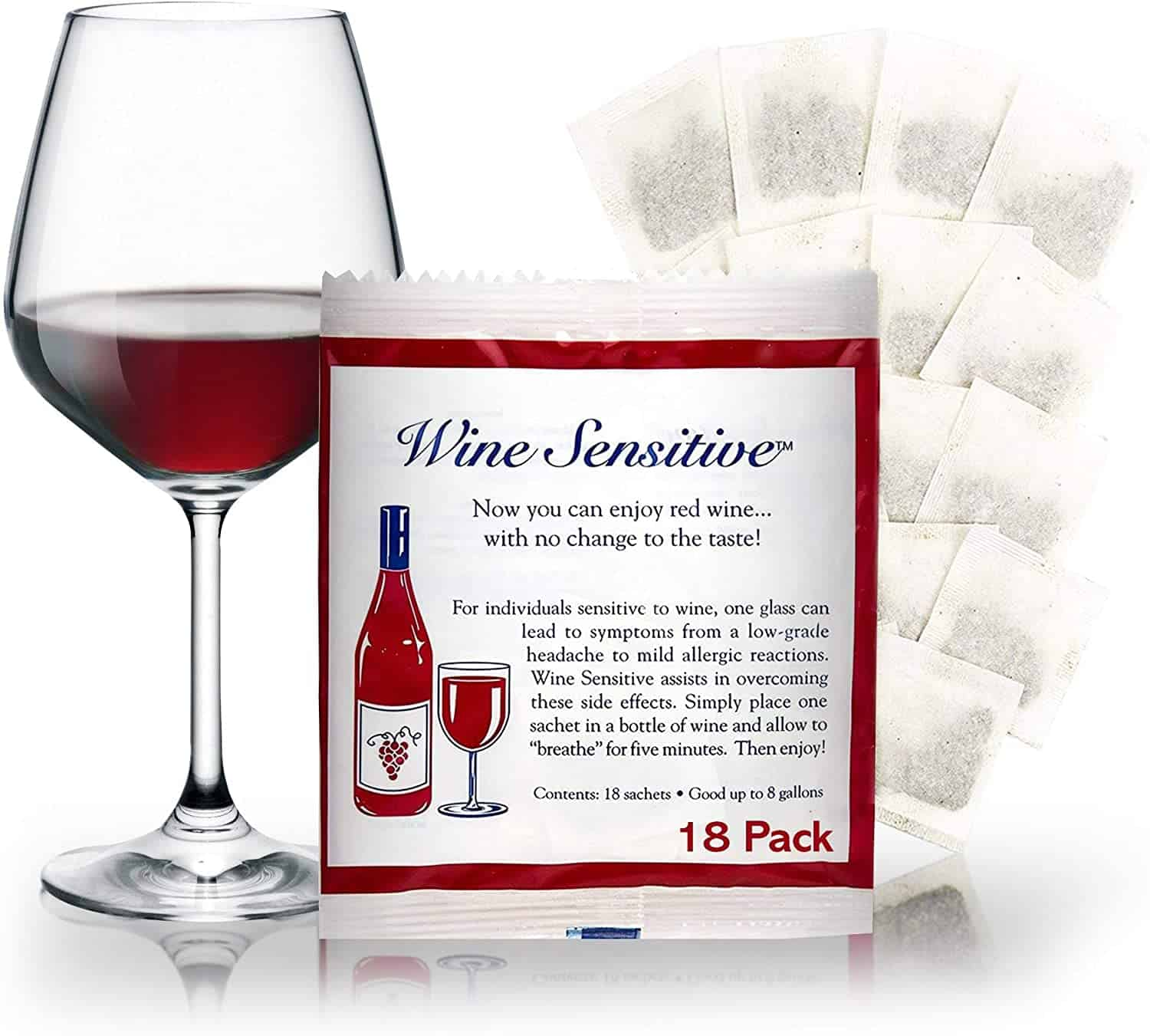 Wine Sensitivity Filter 18 Pack Wine Purifier Packets Natural Sulfite Removing min 1