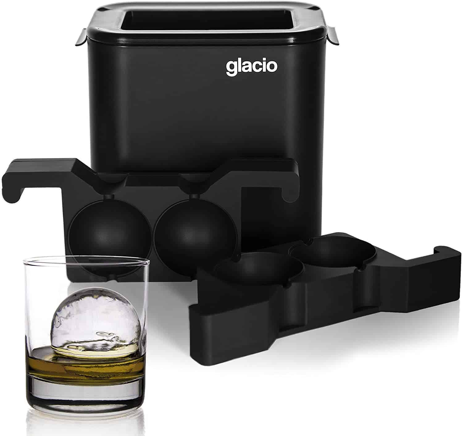 glacio Clear Sphere Ice Duo Crystal Clear Ice Ball Maker Clear Round Ice for Whiskey