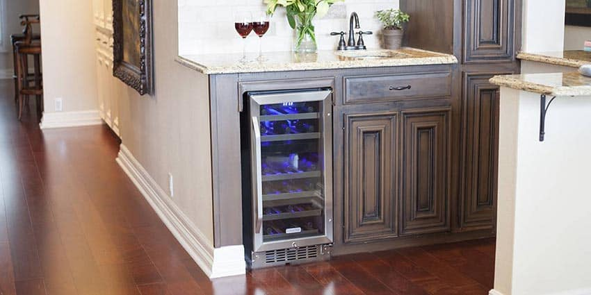 built in wine refrigerator