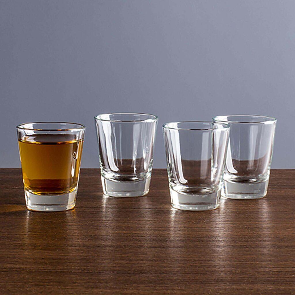92764 Tuscany Shot Glass Flared Set of 4 Clear 1