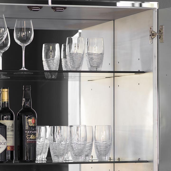 mirror bar cabinet
